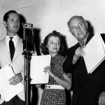 Robert Montgomery with Janet Gaynor and Cecil B. DeMille (Lux's A Star Is Born 1937)